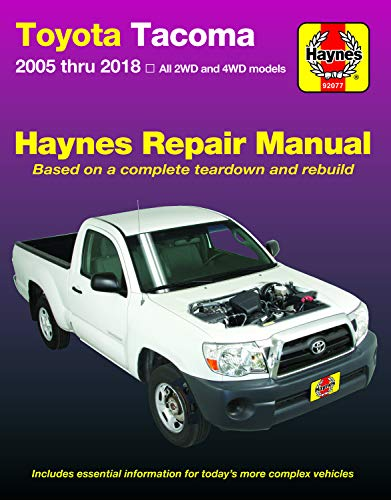 Toyota Tacoma 2006 Thru 2018 Haynes Repair Manual (Haynes Automotive)
