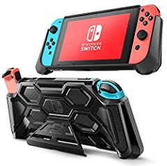 【Kickstand Support】Unique case design with built in kickstand ensures Switch can be used upright for stable hands-free playing in multi-viewing angles 【Full Protection】Made with shock-absorbent flexible TPU and anti-scratch PC material, protects your...