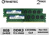 Timetec Hynix IC DDR3 PC3-10600 Non ECC Unbuffered 1.35V/1.5V Dual Rank 240 Pin UDIMM Desktop Memory RAM Upgrade (8GB Kit (2x4GB)