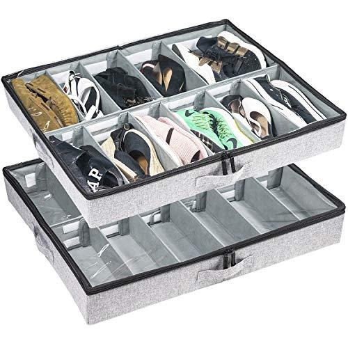 Low Profile Under Bed Shoe Storage Organizer, 4.5