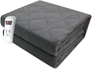WSJTT Electric Blanket Queen Size,Plush Machine Washable Heated Blankets with Auto Shut Off Intelligent Timing Thermostat ...