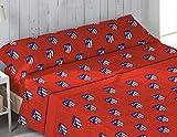 Atlético de Madrid.Juego cama 3 piezas Sábana, Bajera, Funda Almohada. ATM17. (Cama 105 cm)