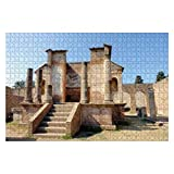 """Jigsaw Puzzles Pompeii Ruins Temple of isis mt vesuvius and Pompeii Stock for Kids Adults Educational Intellectual Game Gift Large Puzzle Toys DIY Challenge Indoor - 20""""x30""""(1000 Pieces)"""