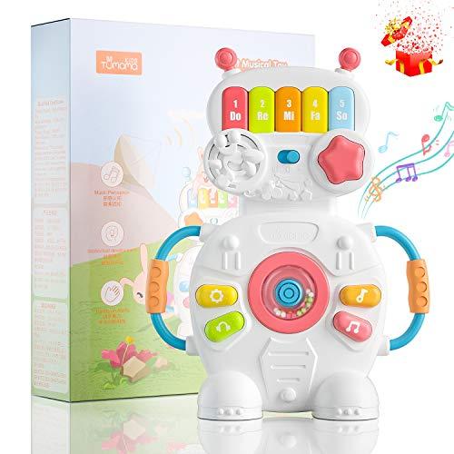 BBLIKE Musik Baby Spielzeug, Tragbares Klavier Keyboard Kinderpiano Babyspielzeug mit Musik und Lichter, Musikalische Früherziehung Geschenk Für Babys und Kleinkinder ab 18 Monate