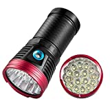 12000 lúmene linternas LED de alta potencia Potente antorcha lumen alta Super brillante linterna táctica militar 16 x XML T6 LED (Batería no incluida)