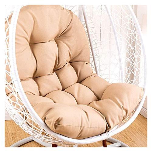 Cojines para exteriores para sillas de patio Cojín para columpios de ratán para colgar, cojines para sillas en forma de huevo con reposabrazos, para exteriores / interiores, para jardín, muebles de
