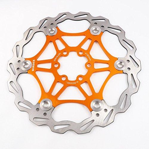 Freno de disco MTB, Bicicleta de Montaña 160mm 180mm 203mm flotante Freno disco rotores compatible con Shimano, Avid, Magura, Hayes, Tektro y muchos más