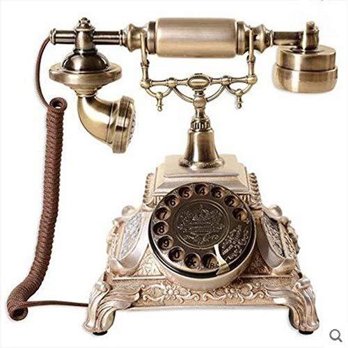 YDS SHOP Telefoon Europese antieke platenspeler klassieke creatieve telefoon mode persoonlijkheid vintage Home Retro telefoon bedrade telefoon