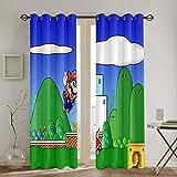 Cortinas decorativas para sala de estar, diseño de Super Mario Odyssey, para sala de estar infantil, 213 x 213 cm