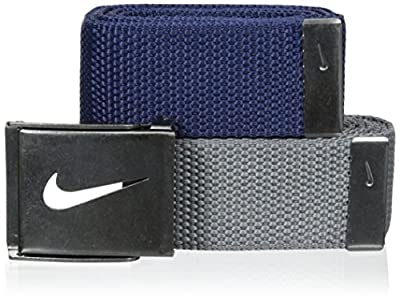 Nike Men's 2-In-1 Web Tin Solid, Navy/Grey, One Size