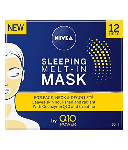 Nivea Q10 Anti-aging gezichtsmasker voor 's nachts (50 ml), anti-rimpel crème met krachtige creatie, volledig gezichtsmasker, mooi 's nachts