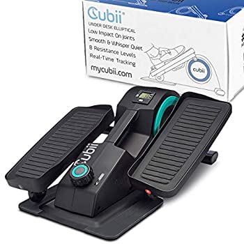 Cubii Jr - Seated Under-Desk Elliptical - Get Fit While You Sit - Built-In Display Monitor - Whisper-Quiet - Adjustable Resistance - Easy to Assemble  Renewed