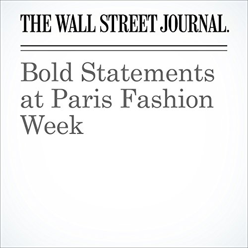 Bold Statements at Paris Fashion Week audiobook cover art