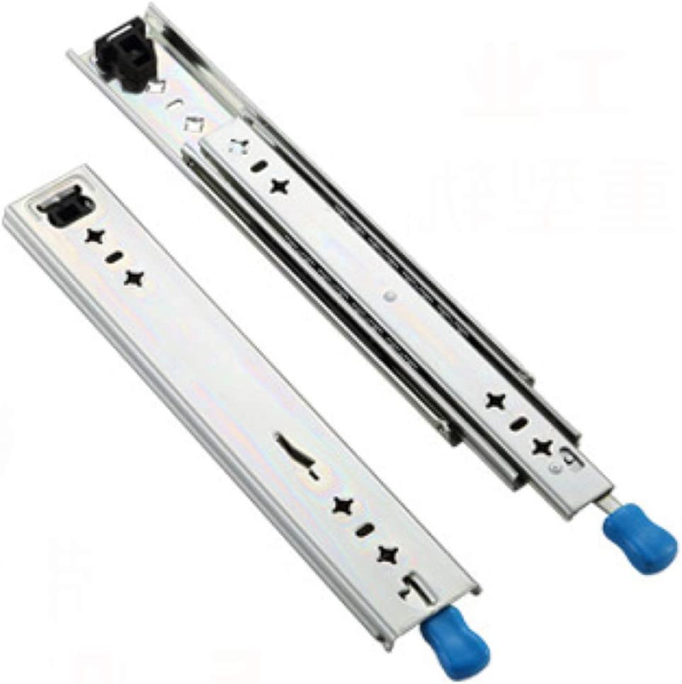 40inches TRGCJGH Drawer Slide Telescopic Runner Slides Heavy Drawers with Ball Bearing 3 Folds Full Extension Solid Steel Smooth and Sturdy,Pair1000mm