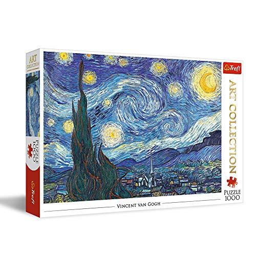 Trefl Gwiaździsta Noc Puzzle 1000 Elementów Art Collection o Wysokim Nasyceniu Kolorów dla Dorosłych i Dzieci od 12 lat