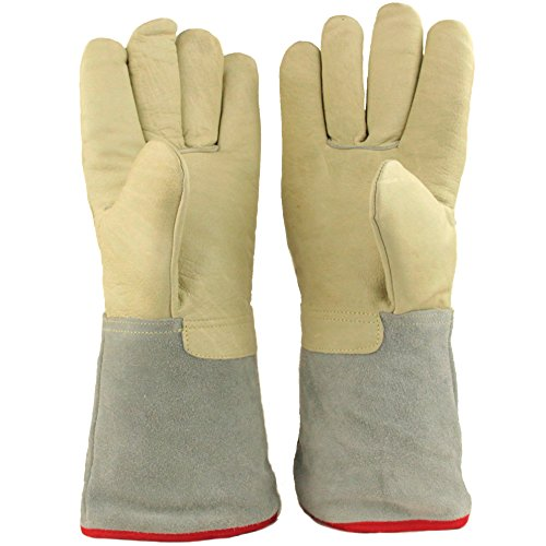 """13.8""""/35cm Long Cryogenic Gloves LN2 Liquid Nitrogen Protective Gloves from U.S. SOLID"""