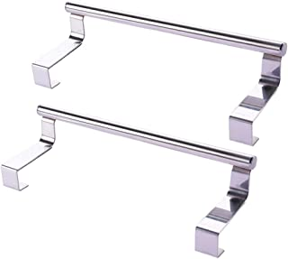 UPKOCH Kitchen Over Cabinet Towel Bar Stainless Steel Hanging Rack Hang on Inside Outside of Doors for Hand Dish Apron Tea...