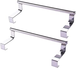 UPKOCH Kitchen Over Cabinet Towel Bar Stainless Steel Hanging Rack Hang on Inside Outside of Doors for Hand Dish Apron Tea Towels (Size L, 36cm) 2PCS