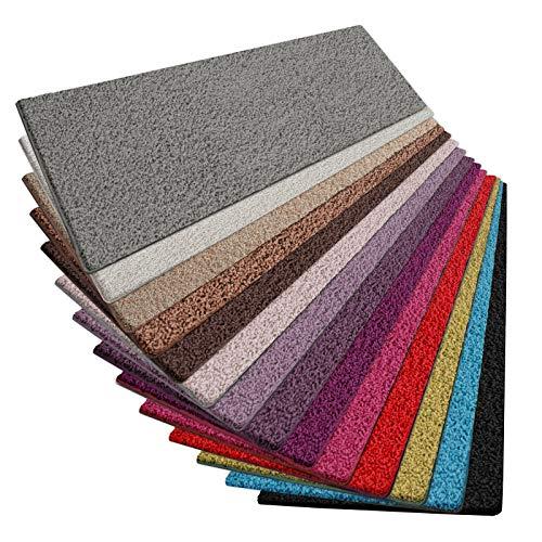 casa pura Shaggy Teppich Läufer Barcelona | weicher Hochflor Teppichläufer für Flur, Wohnzimmer, Schlafzimmer etc. | GUT-Siegel | viele Größen | Moderne Farben | 66x150 cm | Grau