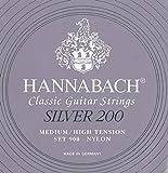Hannabach 652669 10 jeux complets + 10x Sol3 CARBONE Cordes Guitare classique Série 900P Medium/High tension ProfiPack Silver 200 ? 900PPMHT3C