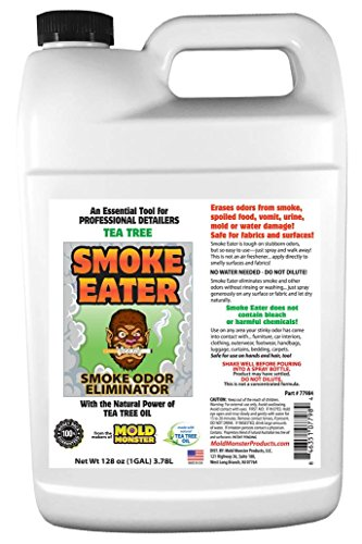 Smoke Eater - Breaks Down Smoke Odor at The Molecular Level - Eliminates Cigarette, Cigar or Pot Smoke On Clothes, in Cars, Boats, Homes, and Office (Gallon)