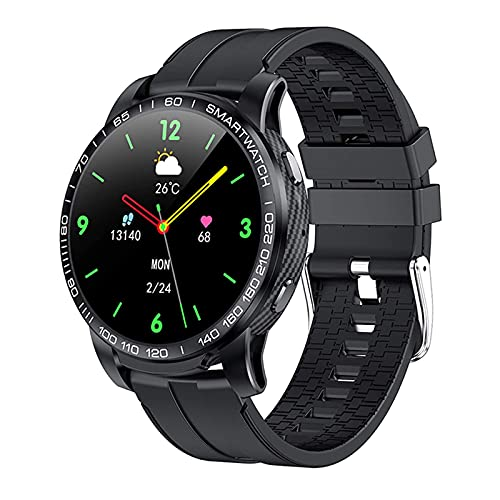 G&UWEI Fitness Smart Watch con 1.28 '' Pantalla Táctil para Hombres, Reloj De Contador De Pasos De Podómetro con 3ATM Impermeable, para Android iOS,Negro
