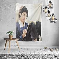 カスタマイズされたタペストリーネット赤diy部屋の壁カバー背景布インぶら下げ布装飾タペストリー三浦春馬/みうらはるま Miura Harumaパターン写真カスタマイズされた60 * 40in