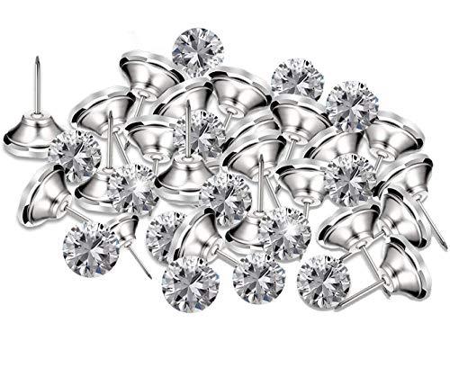 Kyrio 50 piezas de cristal para tapicería, tachuelas de diamantes de imitación para coser botones de diamante para sofá pared DIY manualidades decoración 30 mm