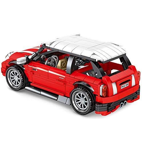 Tirar hacia atrás Coches 557 Uds Creadores Vehículos Retro Mini Coche Deportivo Bloques De Construcción Super Racing Pull Back Car Technic Ladrillos Juguetes Para Niños
