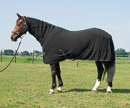 Harry's Horse 32200062-05185cm Fleecedecke Deluxe mit Halssteil, M, schwarz