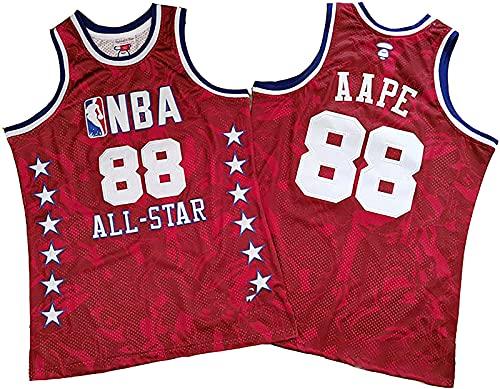 CPBY NBA Hombre Enganchado Salvajemente 1988 Estrella All-Star Baloncesto Bordado, A - XX-Large
