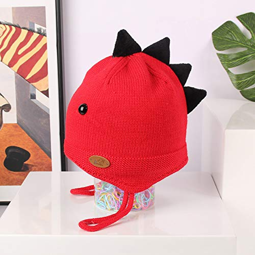 Fashion items Fleece warm knitted hat Korean cute cartoon baby dinosaur woolen hat autumn and winter