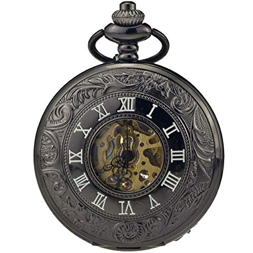 Orologio da tasca CFSAFAA, orologio meccanico automatico maschio a conchiglia con numeri romani classici e numeri romani Old Pocket Watch List Un orologio adatto per il trasporto in una tasca
