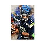 QWSDE NFL Seattle Seahawks Russell Wilson Sports Poster 6
