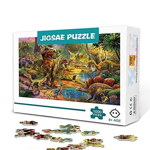 Dinosaur Land-1000 pezzi Puzzle per adulti Gioco per famiglie in legno Antistress Puzzle sfida difficile per bambini Adulti 75x50 cm