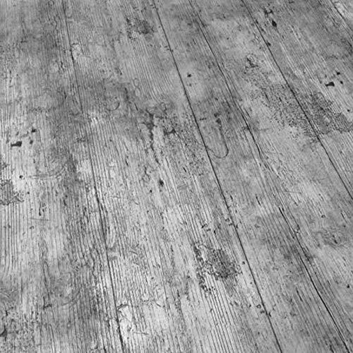QPC Direct PVC-Wachstuch-Tischdecke mit rustikalem Holzeffekt, Grau 140 x 200cm grau