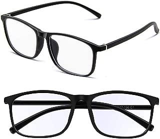 Blue Light Blocking Glasses for Men Women Computer Glasses Anti Harmful Bluelights UV400 Lightweight Frame Eyeglasses