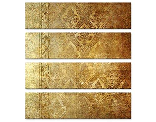 Apalis Leinwandbild The 7 Virtues Faith Quattro Ornamente Schnörkel Muster Art Deco, Leinwand, Leinwandbild XXL, Leinwanddruck, Wandbild