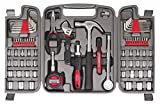 APOLLO TOOLS 79 Piece Multi-Purpose Tool Set with Sockets, Basic Tool Kit for the Garage, Home or on the Road. Includes Essential Tools for Vehicle Maintenance and Repairs - DT9411