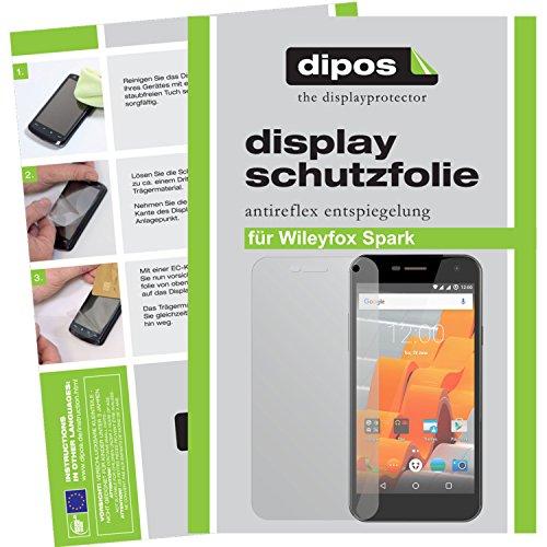 dipos I 2X Schutzfolie matt kompatibel mit Wileyfox Spark Folie Bildschirmschutzfolie