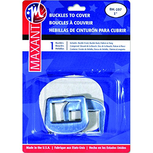 Maxant Button BK-167 D Ring Buckle Cover Kit, 1