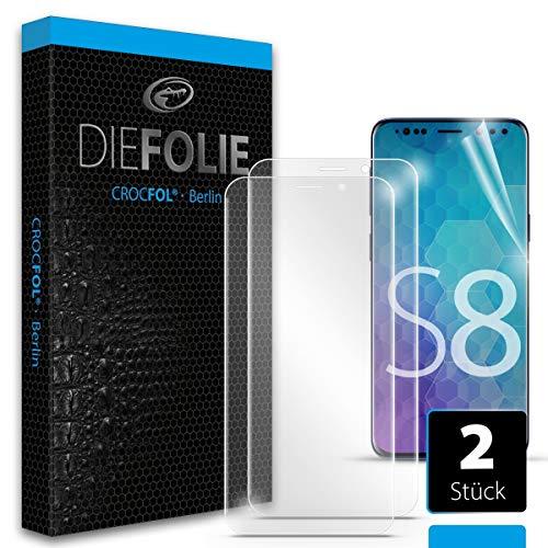 Crocfol Schutzfolie vom Testsieger [2 St.] kompatibel mit Samsung Galaxy S8 - selbstheilende Premium 5D Langzeit-Panzerfolie - für vorne, ganzes Display