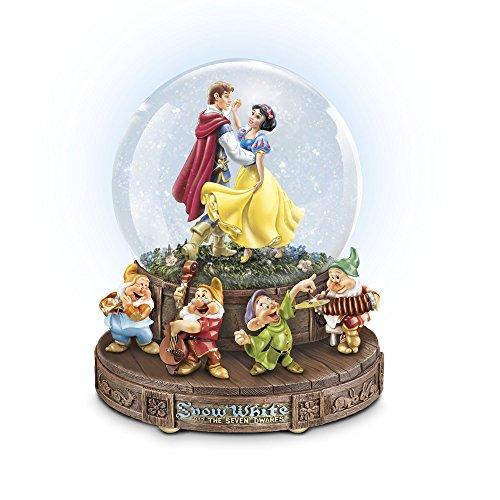 The Bradford Exchange - Officially Licensed Disney Snow White And The Seven Dwarfs Glitter Globe - Handcrafted