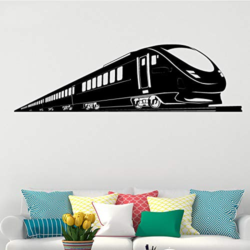 ASFGA Modern Train Personalisierte Wandaufkleber Tapeten Aufkleber Grafik für Jungen Zimmer Abnehmbare Vinyl Wandaufkleber Home Decor 43 * 145cm