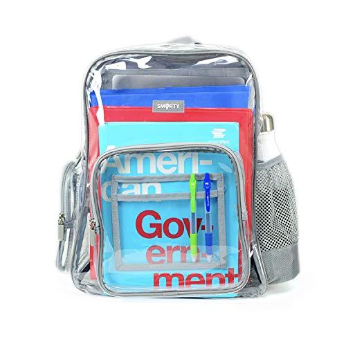 Heavy Duty Clear Backpack Durable Military Nylon Clear Bookbags Transparent See Through