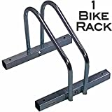 EasyGoProducts EGP-BIK-001 EasyGo Floor Stationary Single Wheel Rack, Indoor – Outdoor Stand, 1 Bike