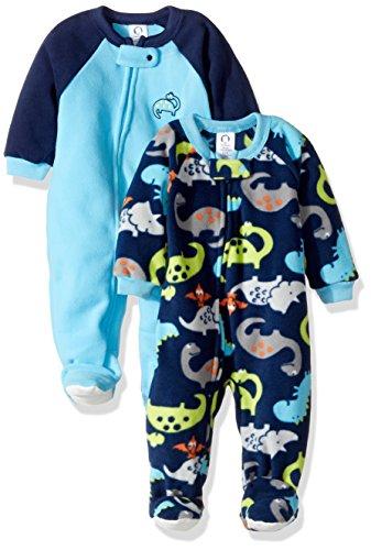 Gerber Baby Boy 2 Pack Blanket Sleeper, dino, 6-9 Months