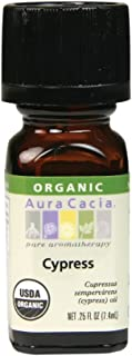 Aura Cacia Personal Care Cypress Essential Oil Organic 0.25 Oz. Bottle