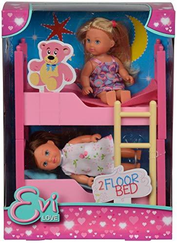 Simba 105733847 - Evi Love 2 Floor Bed / mit zwei Evi Puppen / mit Stockbett / inklusive Zubehör / Ankleidepuppe / 12cm, für Kinder ab 3 Jahren