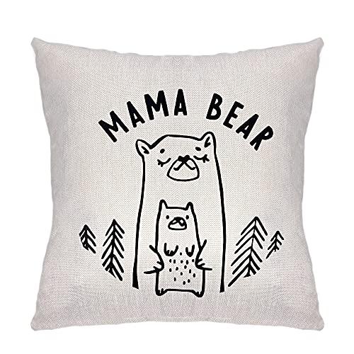 ZCHXD Regalos del Día de la Madre Funda de Cojines para Sofá,Decorativa Ropa de Cojín Funda de Sofá Funda Mama Bear